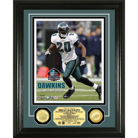 Brian Dawkins 2018 Pro Football Hall of Fame Induction Bronze Coin Photo Mint