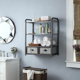 Link to Intek Wall Cabinet w/ Two Drawers Similar Items in Bathroom Furniture