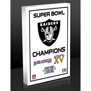 Raiders 3-Time Super Bowl Champions Commemorative 3D Art Block