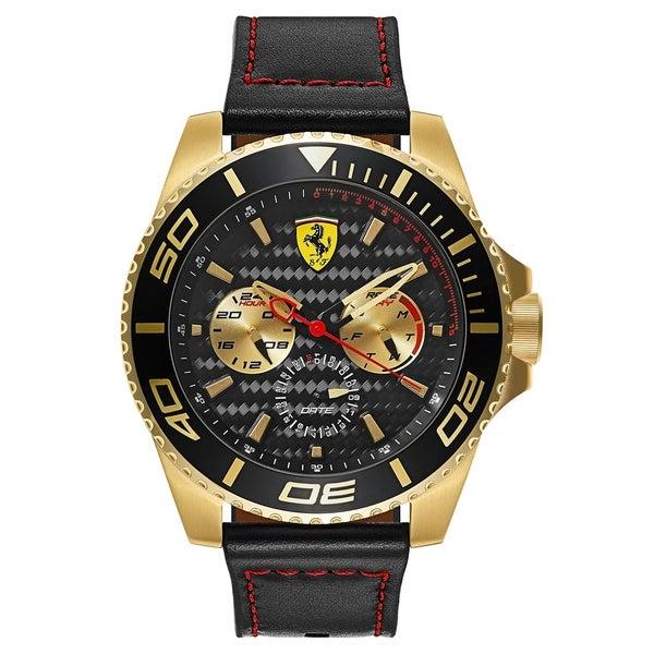 Ferrari XX Kers Black Leather Strap Men's Watch