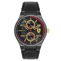 Ferrari Speciale Black Leather Strap Men's Watch