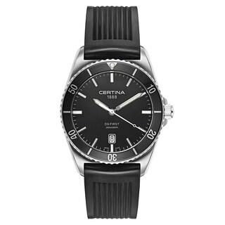 Certina DS First Black Rubber Strap Men's Watch