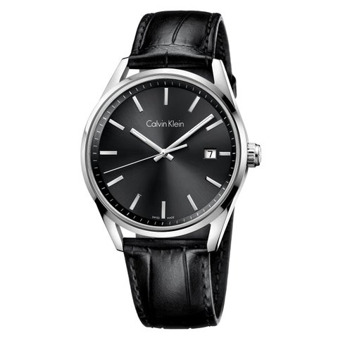 Calvin Klein Formality Black Leather Strap Men's Watch