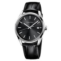 Calvin Klein Formality Black Leather Strap Men's Watch