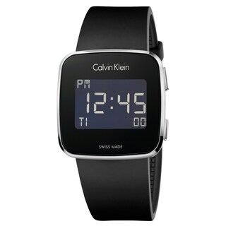 Calvin Klein Future Black Rubber Strap Men's Watch