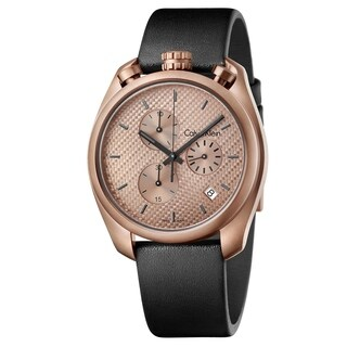 Calvin Klein Control Black Leather Strap Men's Watch