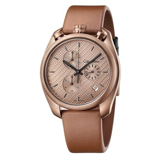 Calvin Klein Control Brown Leather Strap Men's Watch
