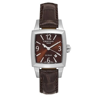 Certina DS Prime Dark Brown Leather Strap Women's Watch