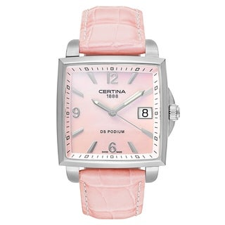Certina DS Podium Pink Leather Strap Women's Watch