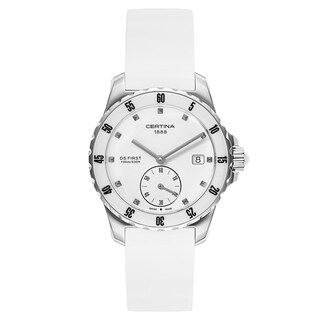 Certina DS First White Rubber Strap Women's Watch