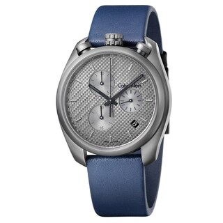 Calvin Klein Control Blue Leather Strap Men's Watch