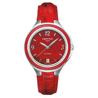 Certina DS Queen Red Leather Strap Women's Watch
