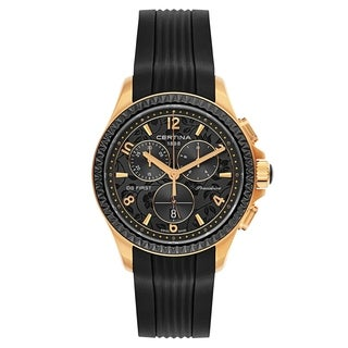 Certina DS First Lady Chronograph Black and Rose Gold Women's Watch