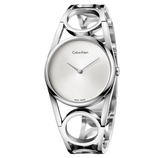Calvin Klein Round Silver Dial Women's Watch