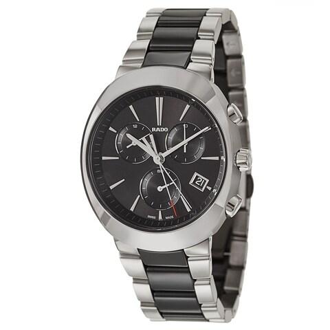 Rado D-Star Chronograph Silver and Black Men's Watch