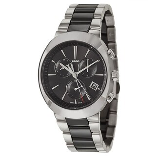 Rado D-Star Chronograph Silver and Black Men's Watch