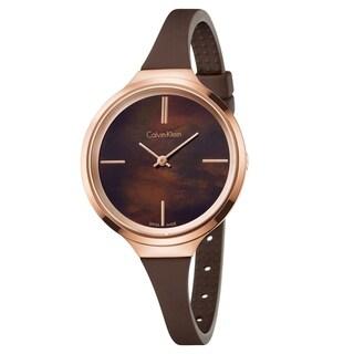 Calvin Klein Lively Brown Silicone Strap Women's Watch