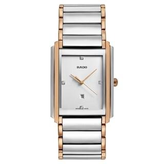 Rado Integral Silver and Rose Gold Men's Watch