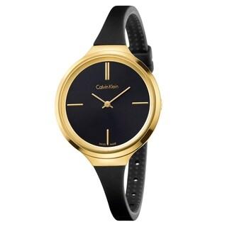 Calvin Klein Lively Black Silicone Strap Women's Watch