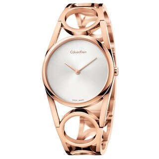 Calvin Klein Round Rose Gold Women's Watch