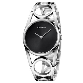 Calvin Klein Round Black Dial Women's Watch