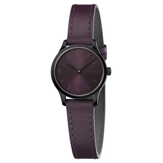 Calvin Klein Endless Purple Leather Strap Women's Watch