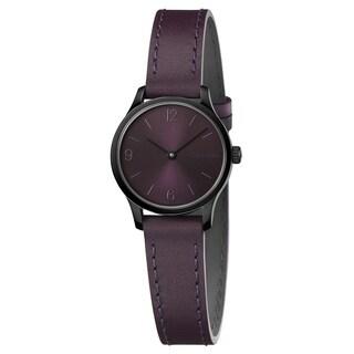Calvin Klein Endless Purple Leather Strap Women's Watch