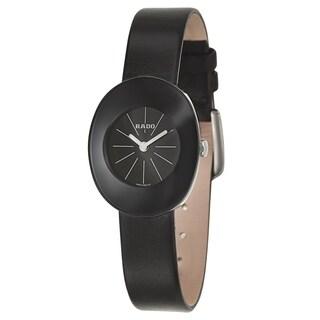 Rado Esenza Black Leather Strap Women's Watch