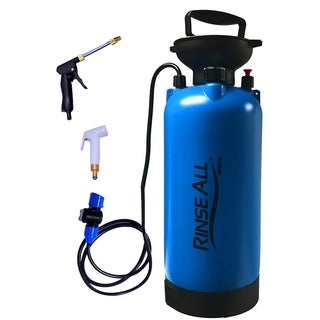 Rinse All PW10 2.1 Gallon - Car Washer Kit - Camp Shower - Portable Shower with Heavy Duty Shower Pump Handle