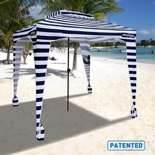 EasyGo Cabana 6' X 6' Beach Umbrella & Sports Cabana with Carrying Bag