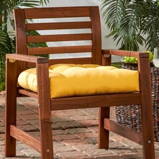 Porch & Den Rosewood Graham Sunbrella Tufted 20-inch Outdoor Chair Cushion
