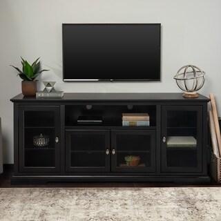 Copper Grove Beaverhead 70-inch Black Wood Highboy TV Stand - 70 x 16 x 30h