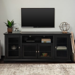 Clay Alder Home Toston 70-inch Black Wood Highboy TV Stand