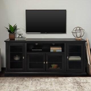 Clay Alder Home Toston 70 Inch Black Wood Highboy TV Stand