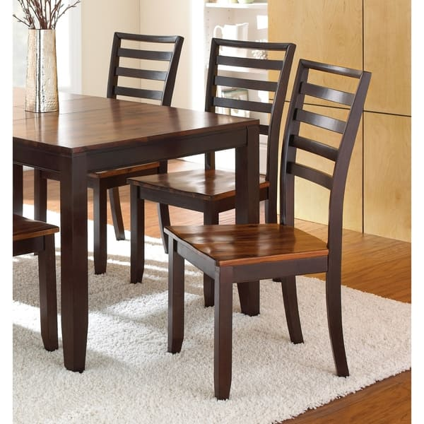 Shop Copper Grove Jeanette Acacia 40 Inch Dining Chairs Set