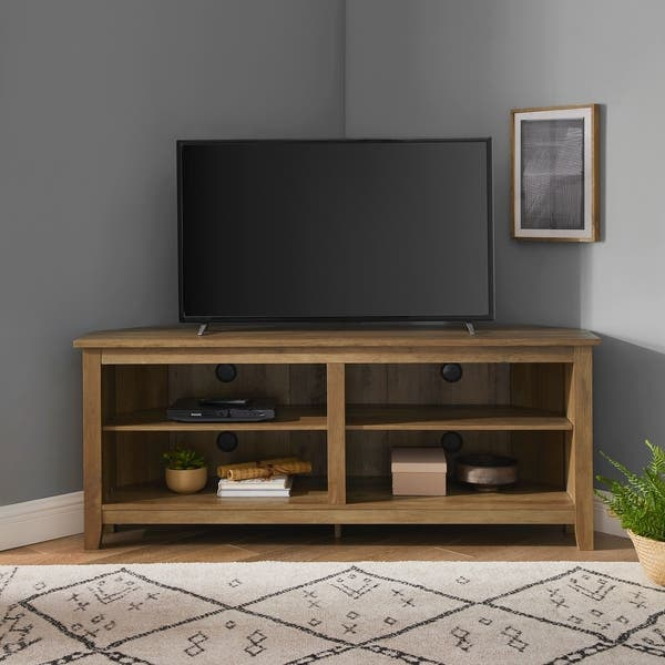 sports shoes d4f23 15f20 Shop Porch & Den Ogden 58-inch Corner TV Stand, Espresso ...