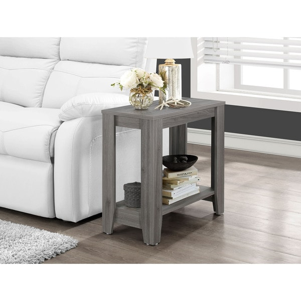 The Gray Barn LaSalle Grey Wood Accent Table
