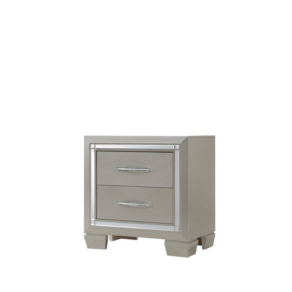 Silver Orchid Odette Glamour Nightstand