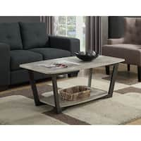 Porch & Den Bywater Clouet Metal Wood Coffee Table
