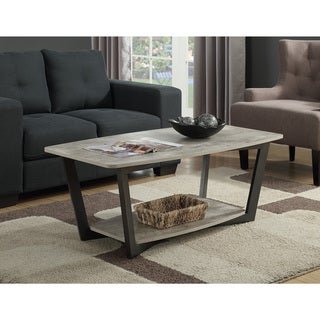 Link to Porch & Den Clouet Metal/ Wood Coffee Table Similar Items in Living Room Furniture