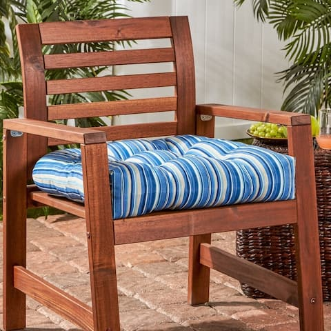 Colton Stripe 20-inch Outdoor Chair Cushion by Havenside Home