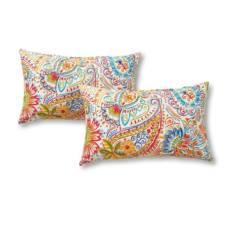 Christiansen Painted Outdoor Accent Pillows (Set of 2) by Havenside Home - 12h x 19l