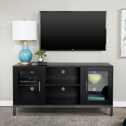 Porch & Den Dart 52-inch Wood TV Console with Metal Legs - 52 x 16 x 26h