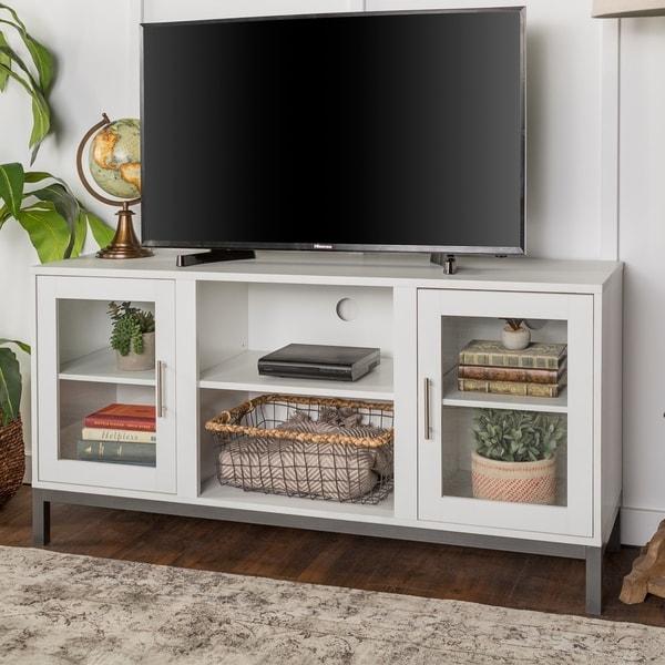 26 Interesting Living Room Décor Ideas Definitive Guide: Shop Porch & Den Dart 52-inch Wood TV Console With Metal