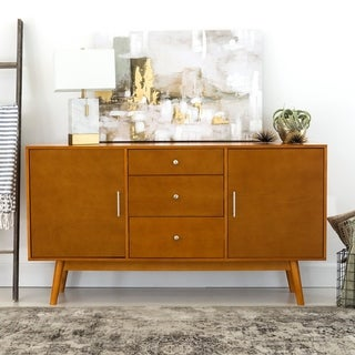 Carson Carrington Kjellerup 60-inch Mid-century Wood TV Console