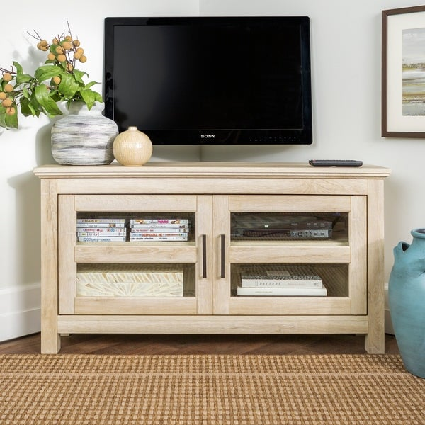 Carbon Loft Ethel 44 Inch Corner Wood Tv Stand