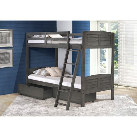 Taylor & Olive Concord Kids Antique Grey Pine Bunk Bed