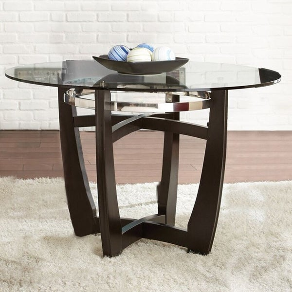 Glass Kitchen Tables For Sale: Shop Strick & Bolton Holland 48-inch Glass Top Dining