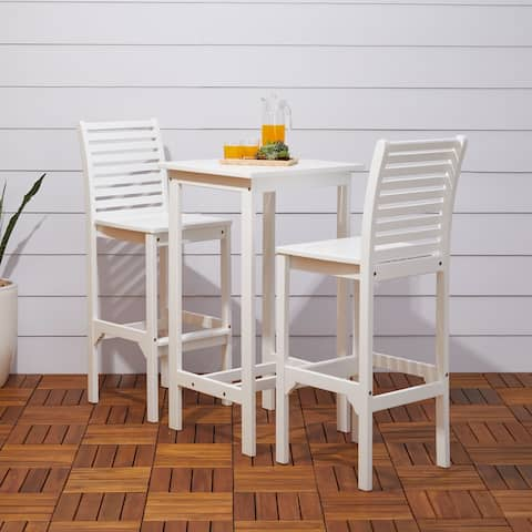 Bradley 3-piece Wood Outdoor Acacia Bar Set