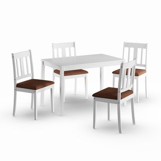Porch & Den Aaron White 5-piece Dining Set